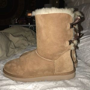 UGG Shoes - Brown Bailey Bow Ugg Boots